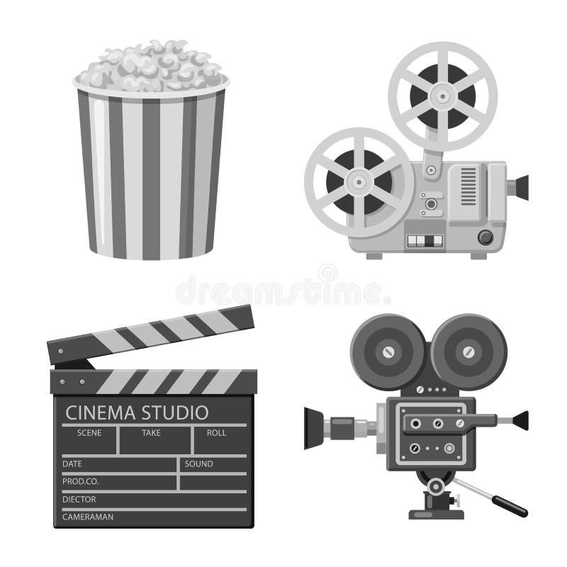 Vectorontwerp van cinematografie en studiopictogram Inzameling van cinematografie en film vectorpictogram voor voorraad royalty-vrije illustratie