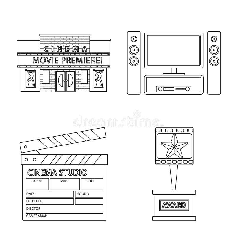 Vectorontwerp van cinematografie en studiopictogram Reeks van cinematografie en vermaak vectorpictogram voor voorraad vector illustratie