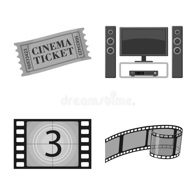 Vectorontwerp van cinematografie en studiosymbool Inzameling van cinematografie en film vectorpictogram voor voorraad royalty-vrije illustratie