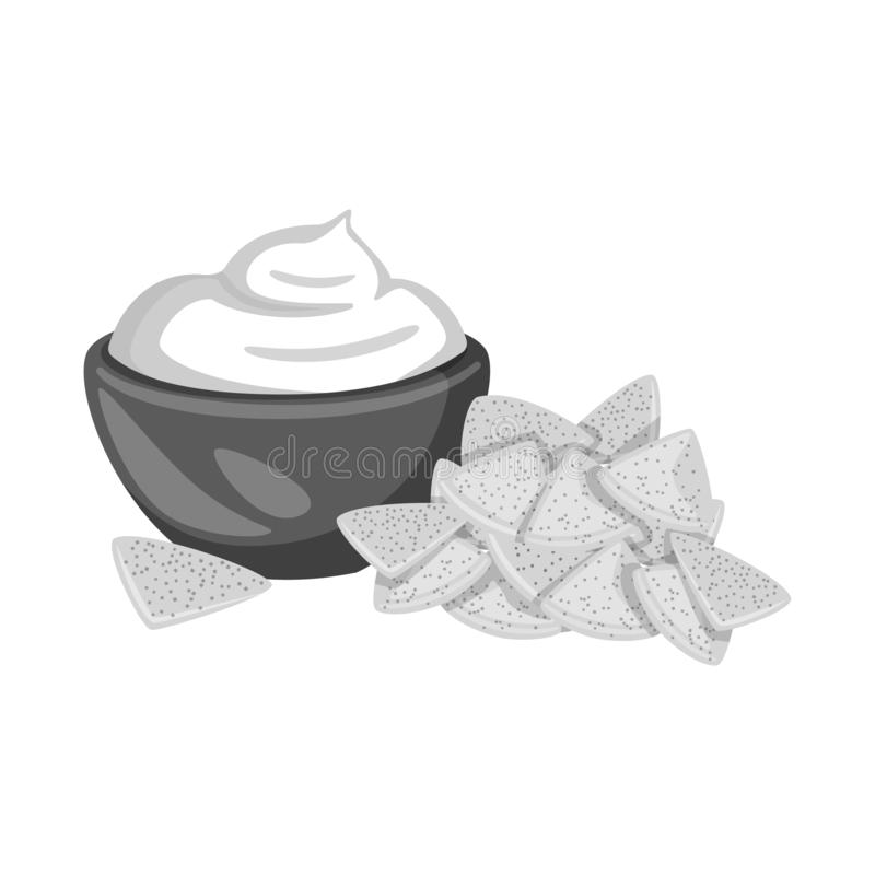Vectorontwerp van cracker en koekjesembleem Inzameling van cracker en roomvoorraadsymbool voor Web stock illustratie