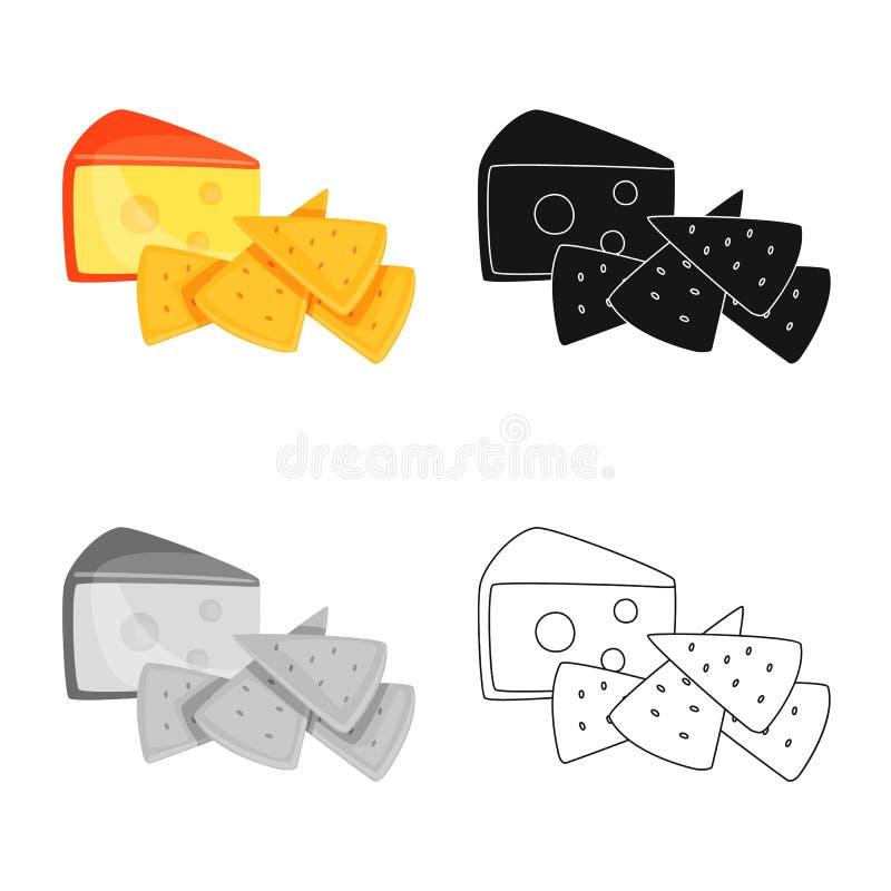 Vectorontwerp van cracker en voorgerechtpictogram r vector illustratie