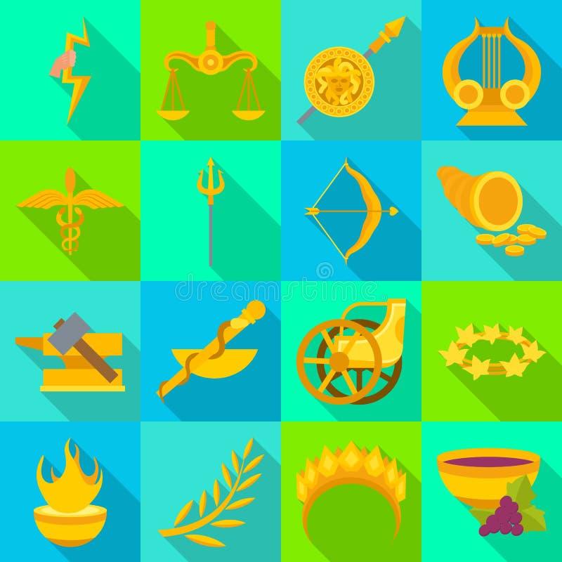 Vectorontwerp van deity en antiek embleem Reeks van deity en mythen vectorpictogram voor voorraad royalty-vrije illustratie