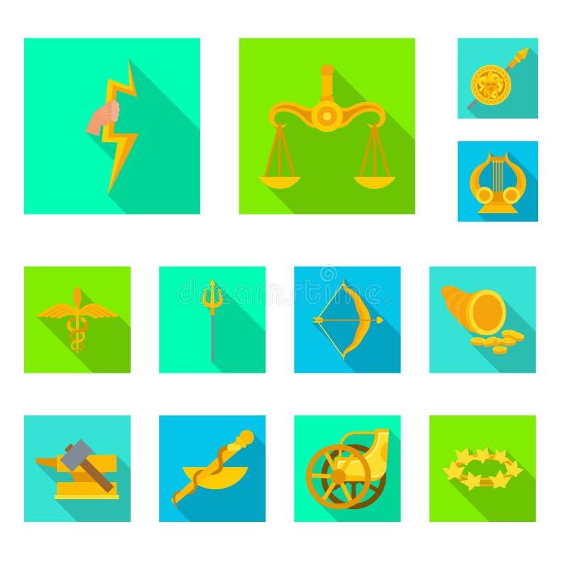 Vectorontwerp van deity en antiek pictogram Reeks van deity en van de mythenvoorraad symbool voor Web stock illustratie
