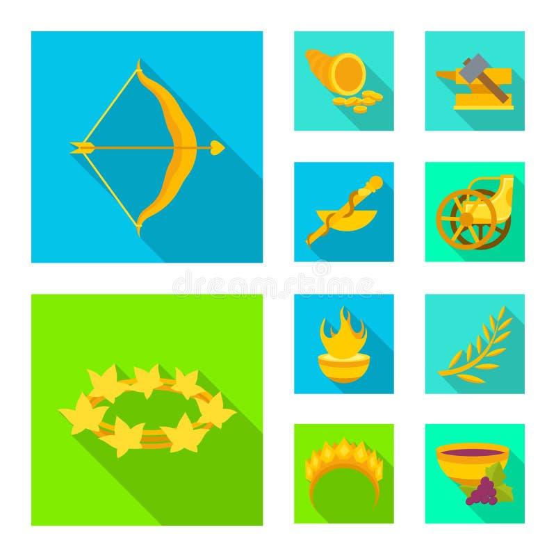 Vectorontwerp van deity en antiek teken Inzameling van deity en van de mythenvoorraad vectorillustratie royalty-vrije illustratie