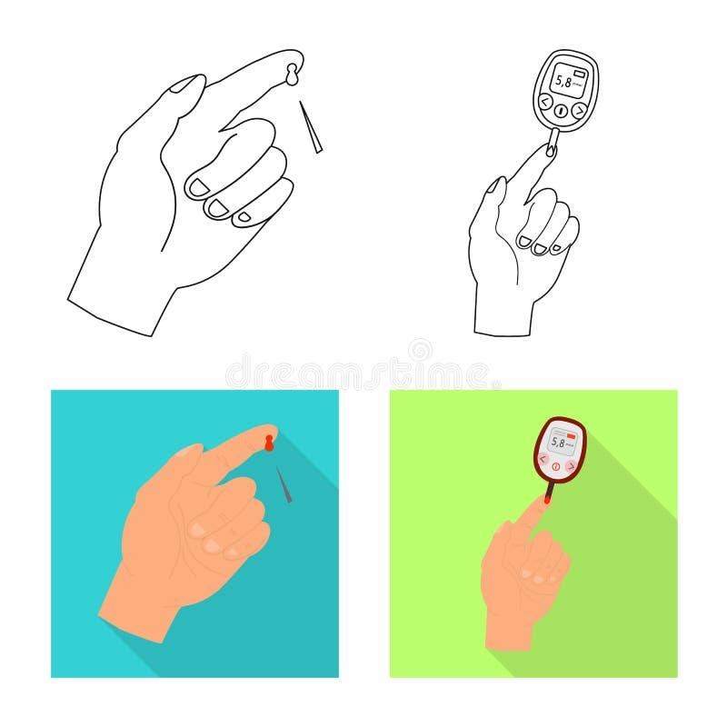 Vectorontwerp van dieet en behandelingspictogram Inzameling van dieet en de vectorillustratie van de geneeskundevoorraad vector illustratie