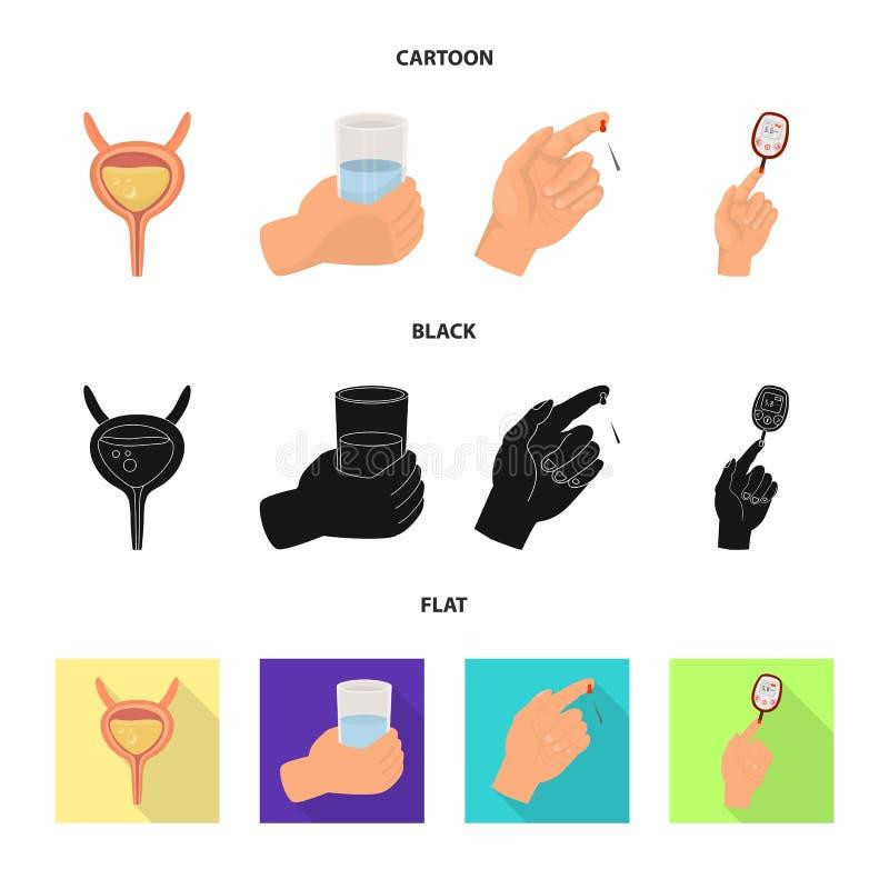 Vectorontwerp van dieet en behandelingspictogram Inzameling van dieet en geneeskunde vectorpictogram voor voorraad stock illustratie