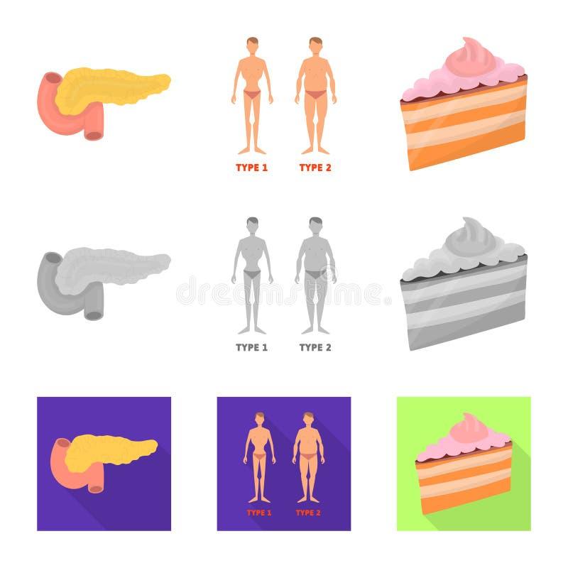 Vectorontwerp van dieet en behandelingspictogram Reeks van dieet en de vectorillustratie van de geneeskundevoorraad stock illustratie
