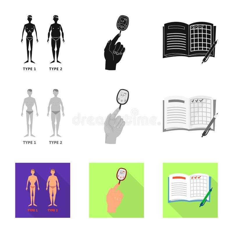 Vectorontwerp van dieet en behandelingssymbool Reeks van dieet en geneeskunde vectorpictogram voor voorraad royalty-vrije illustratie
