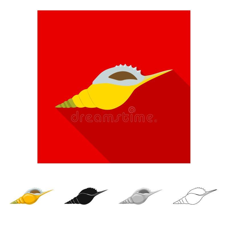 Vectorontwerp van dier en decoratieembleem Reeks van dierlijke en oceaanvoorraad vectorillustratie vector illustratie