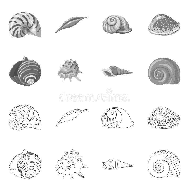 Vectorontwerp van dier en decoratiepictogram Inzameling van dierlijk en oceaan vectorpictogram voor voorraad vector illustratie