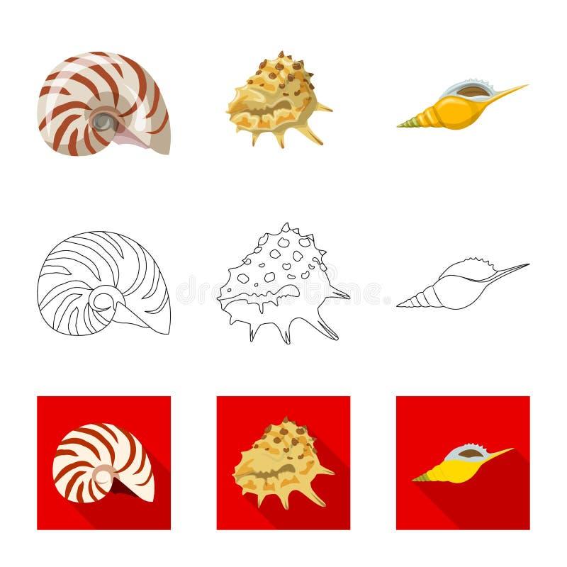 Vectorontwerp van dier en decoratiepictogram Inzameling van dierlijk en oceaanvoorraadsymbool voor Web royalty-vrije illustratie