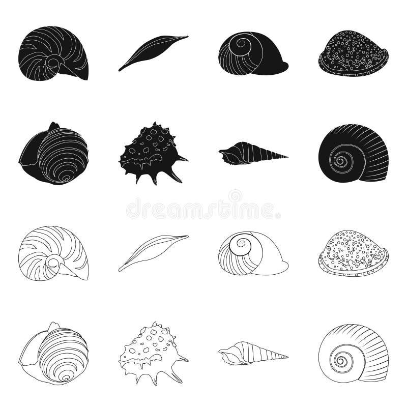 Vectorontwerp van dier en decoratiepictogram Reeks van dierlijk en oceaan vectorpictogram voor voorraad vector illustratie