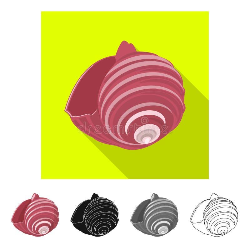Vectorontwerp van dier en decoratiepictogram Reeks van dierlijke en oceaanvoorraad vectorillustratie stock illustratie
