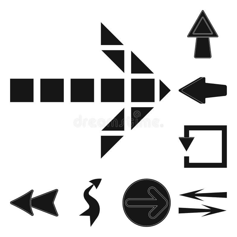 Vectorontwerp van element en pijlembleem Inzameling van element en richtings vectorpictogram voor voorraad vector illustratie