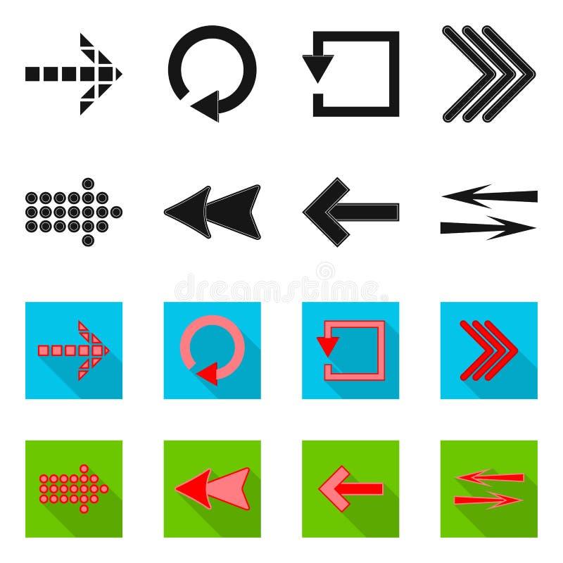 Vectorontwerp van element en pijlsymbool Reeks van element en richtings vectorpictogram voor voorraad stock illustratie