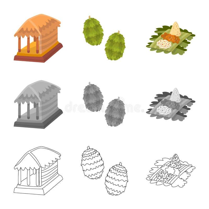 Vectorontwerp van en reisembleem Reeks van en traditioneel vectorpictogram voor voorraad royalty-vrije illustratie