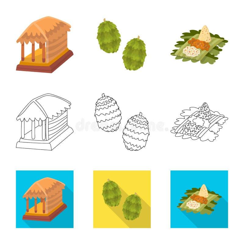 Vectorontwerp van en reispictogram Inzameling van en traditioneel voorraadsymbool voor Web stock illustratie