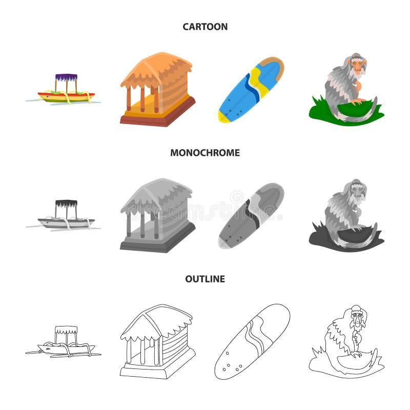 Vectorontwerp van en reispictogram Inzameling van en traditionele voorraad vectorillustratie vector illustratie