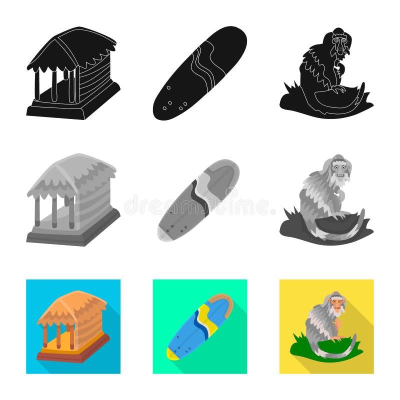 Vectorontwerp van en reispictogram Reeks van en traditioneel voorraadsymbool voor Web stock illustratie