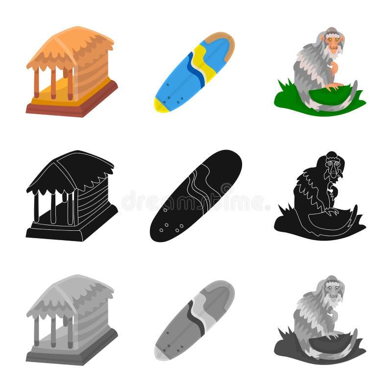 Vectorontwerp van en reissymbool Inzameling van en traditioneel vectorpictogram voor voorraad royalty-vrije illustratie