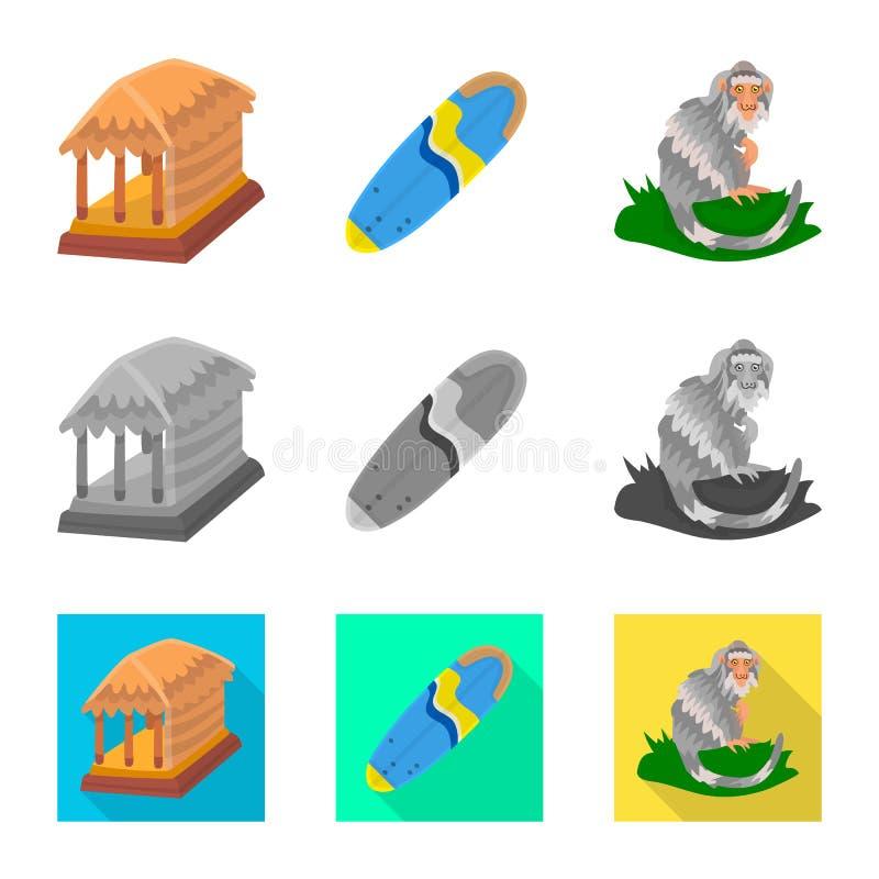 Vectorontwerp van en reisteken Inzameling van en traditioneel vectorpictogram voor voorraad stock illustratie