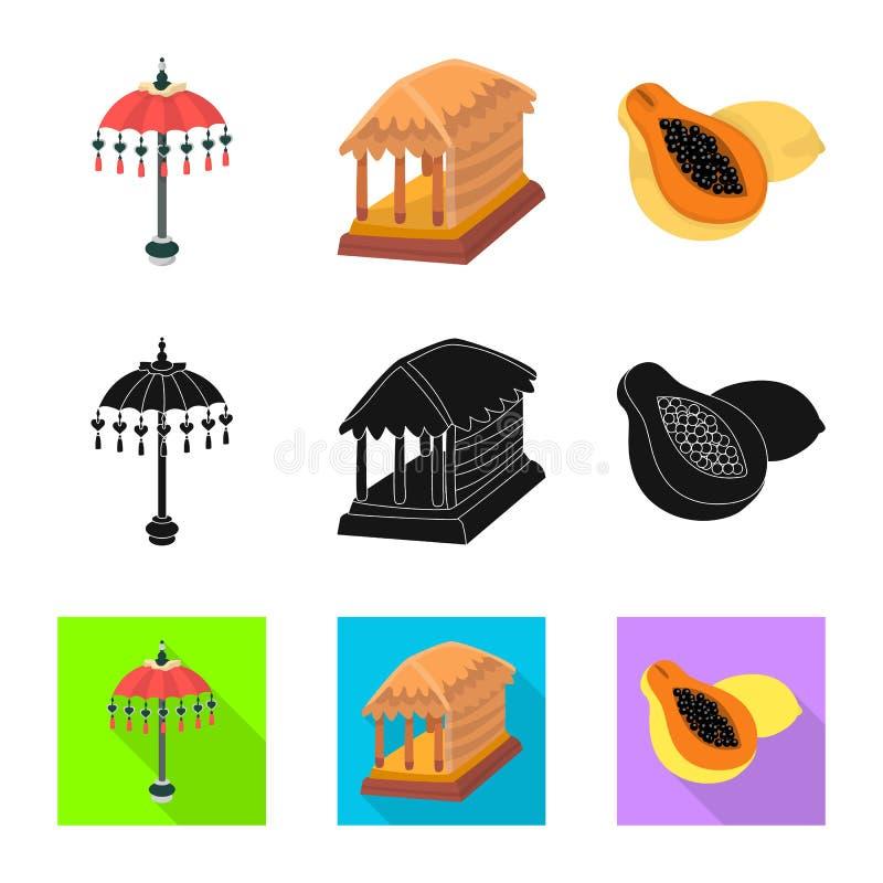 Vectorontwerp van en reisteken Inzameling van en traditioneel voorraadsymbool voor Web vector illustratie