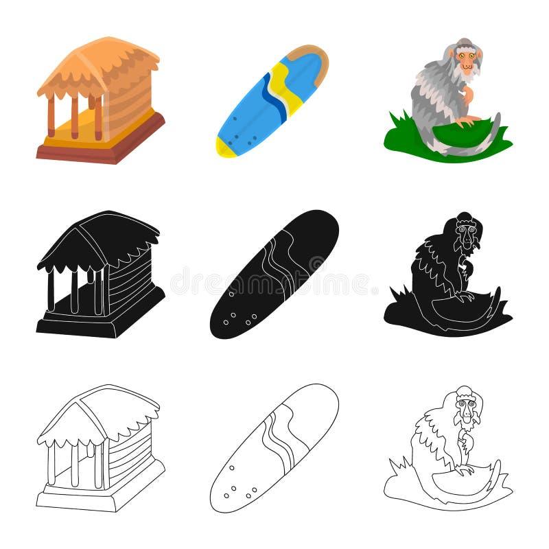 Vectorontwerp van en reisteken Inzameling van en traditionele voorraad vectorillustratie vector illustratie