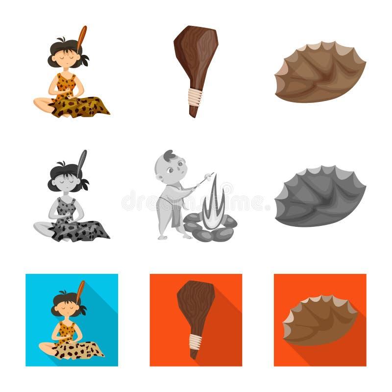 Vectorontwerp van evolutie en voorgeschiedenispictogram Reeks van evolutie en ontwikkelingsvoorraadsymbool voor Web vector illustratie