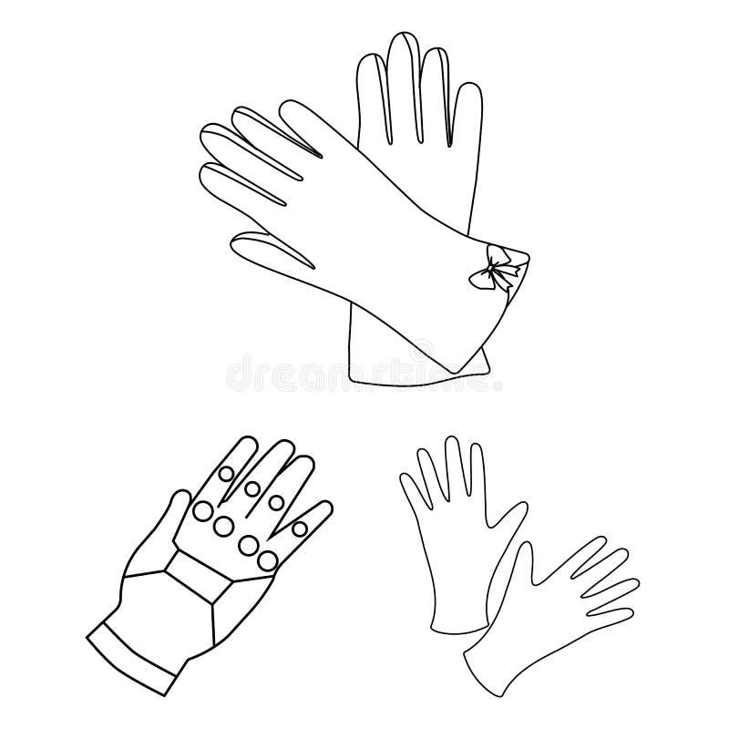 Vectorontwerp van gebreid en bewaardersembleem Reeks van het gebreide en symbool van de handvoorraad voor Web stock illustratie