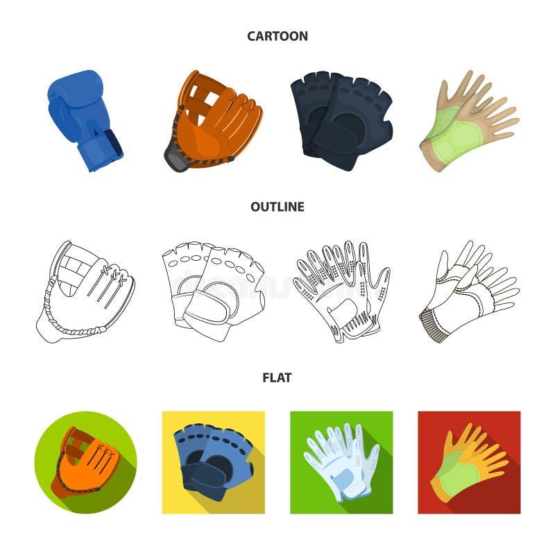 Vectorontwerp van gebreid en bewaarderssymbool Inzameling van de gebreide en vectorillustratie van de handvoorraad royalty-vrije illustratie