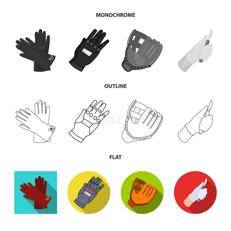 Vectorontwerp van gebreid en bewaarderssymbool Reeks van gebreid en hand vectorpictogram voor voorraad stock illustratie