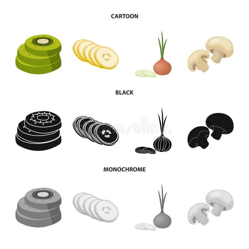 Vectorontwerp van groente en fruitsymbool Reeks van groente en voedsel vectorpictogram voor voorraad vector illustratie