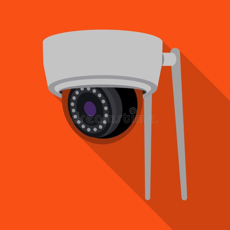 Vectorontwerp van het symbool van kabeltelevisie en van de camera Inzameling van de voorraad vectorillustratie van kabeltelevisie stock illustratie