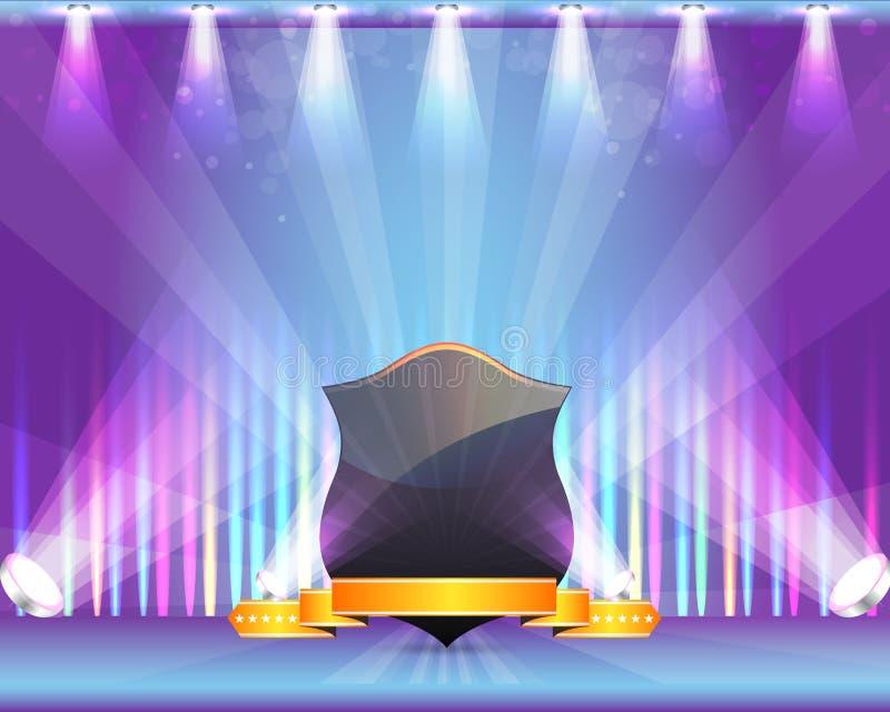 VectorOntwerp van het Thema van de Vlek van het Lint van het schild het Lichte stock illustratie