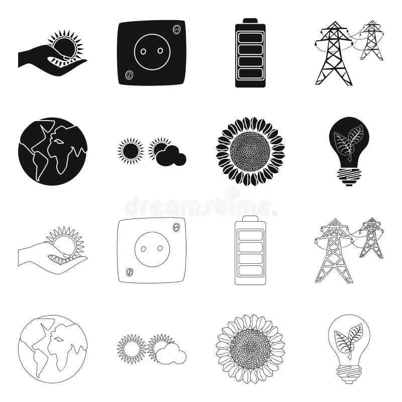 Vectorontwerp van innovatie en technologieembleem Reeks van innovatie en de vectorillustratie van de aardvoorraad stock illustratie
