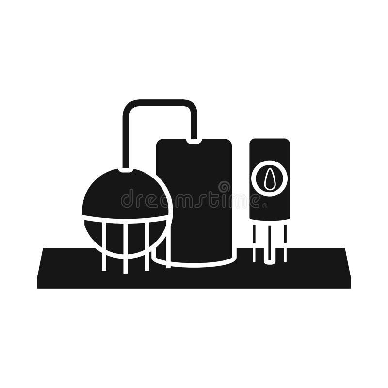 Vectorontwerp van installatie en thermisch embleem Reeks van installatie en ecovoorraad vectorillustratie royalty-vrije illustratie