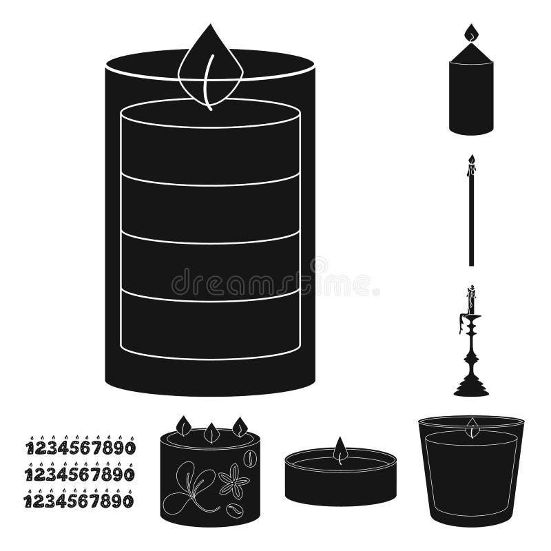 Vectorontwerp van kaarslicht en decoratiepictogram Inzameling van kaarslicht en de vectorillustratie van de wasvoorraad vector illustratie