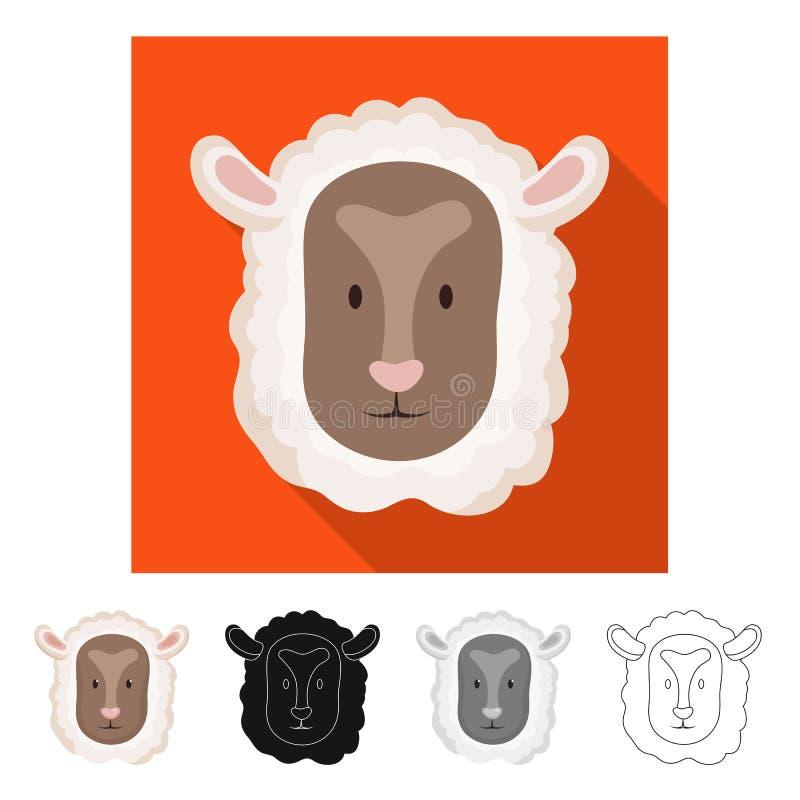 Vectorontwerp van kuiken en gezichtsteken Reeks van kuiken en kippenvoorraad vectorillustratie royalty-vrije illustratie