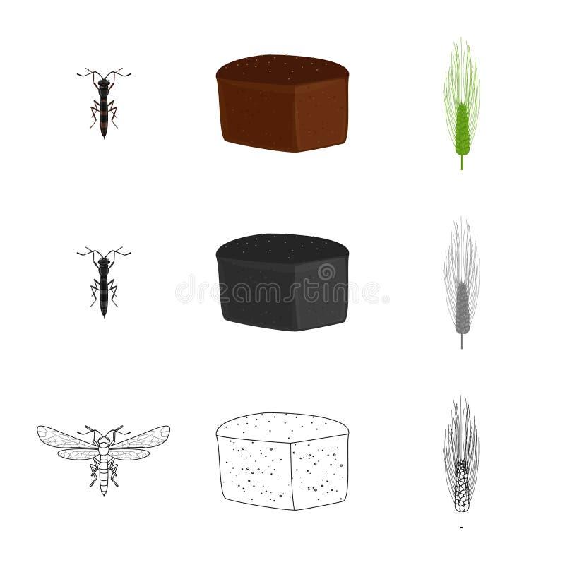 Vectorontwerp van landbouw en de landbouwsymbool Reeks van landbouw en het symbool van de installatievoorraad voor Web stock illustratie