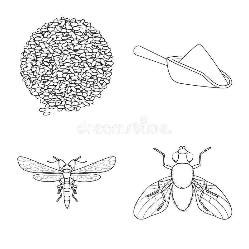 Vectorontwerp van landbouw en de landbouwteken Reeks van landbouw en het symbool van de installatievoorraad voor Web royalty-vrije illustratie