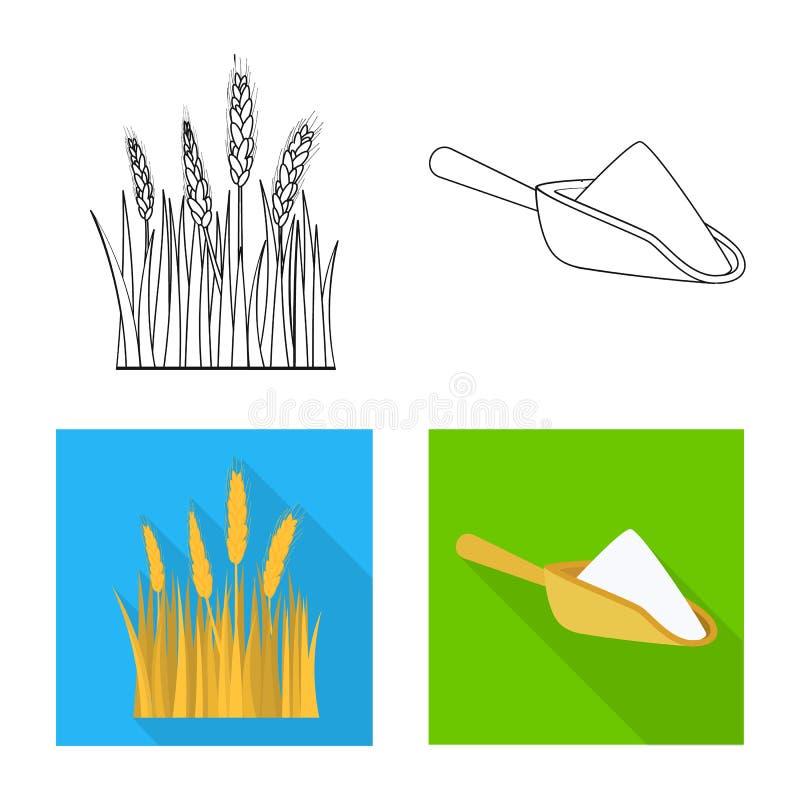 Vectorontwerp van landbouw en de landbouwteken Reeks van landbouw en het symbool van de installatievoorraad voor Web stock illustratie