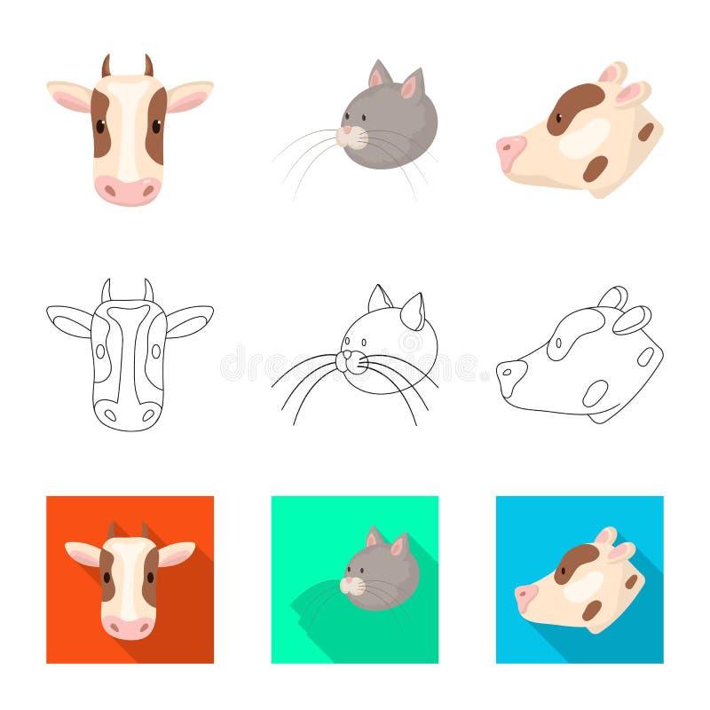 Vectorontwerp van landbouw en het fokkenembleem Inzameling van landbouw en organische voorraad vectorillustratie stock illustratie