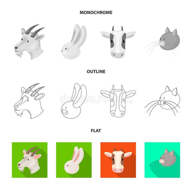 Vectorontwerp van landbouw en het fokkenembleem Inzameling van landbouw en organische voorraad vectorillustratie royalty-vrije illustratie