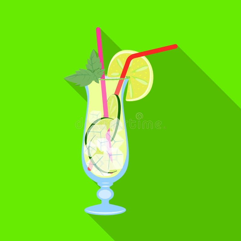 Vectorontwerp van limonade en kalksymbool Inzameling van limonade en muntvoorraad vectorillustratie vector illustratie