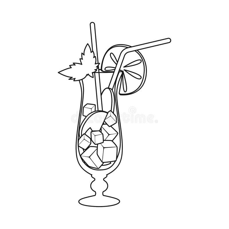 Vectorontwerp van limonade en kalkteken Reeks van limonade en muntvoorraad vectorillustratie vector illustratie