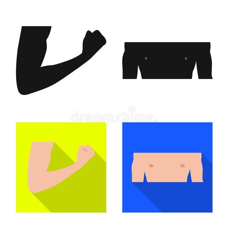 Vectorontwerp van mens en deelembleem Inzameling van mens en vrouwenvoorraadsymbool voor Web stock illustratie