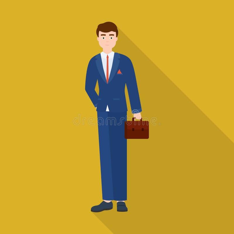 Vectorontwerp van mensen en bedrijfspictogram Inzameling van mens en businessperson voorraad vectorillustratie royalty-vrije illustratie
