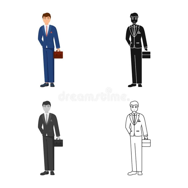 Vectorontwerp van mensen en bedrijfspictogram Reeks van mens en businessperson voorraad vectorillustratie vector illustratie