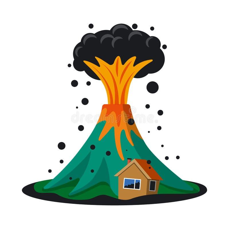 Vectorontwerp van natuurlijk en rampenteken Inzameling van natuurlijk en risico vectorpictogram voor voorraad vector illustratie