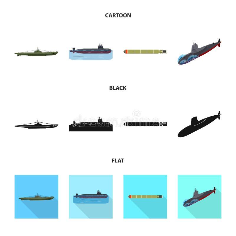 Vectorontwerp van oorlog en schipembleem Reeks van oorlog en vloot vectorpictogram voor voorraad stock illustratie